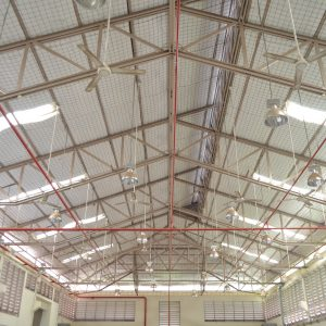 Factory,Roof,Structure,And,Automatic,Fire,Protection,In,Building,System.